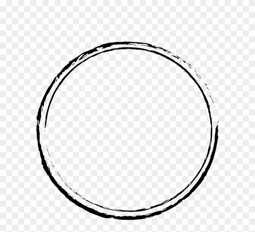 Stamp Outline In Black - Circle Stamp Png, Transparent Png