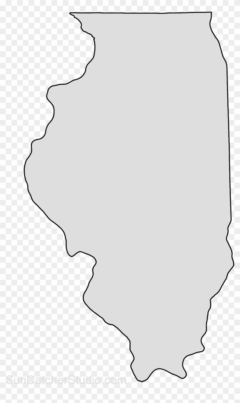 Map Outline State Outline State Pattern State Crafts Illinois State Shape Hd Png Download 1316x1930 2518899 Pngfind