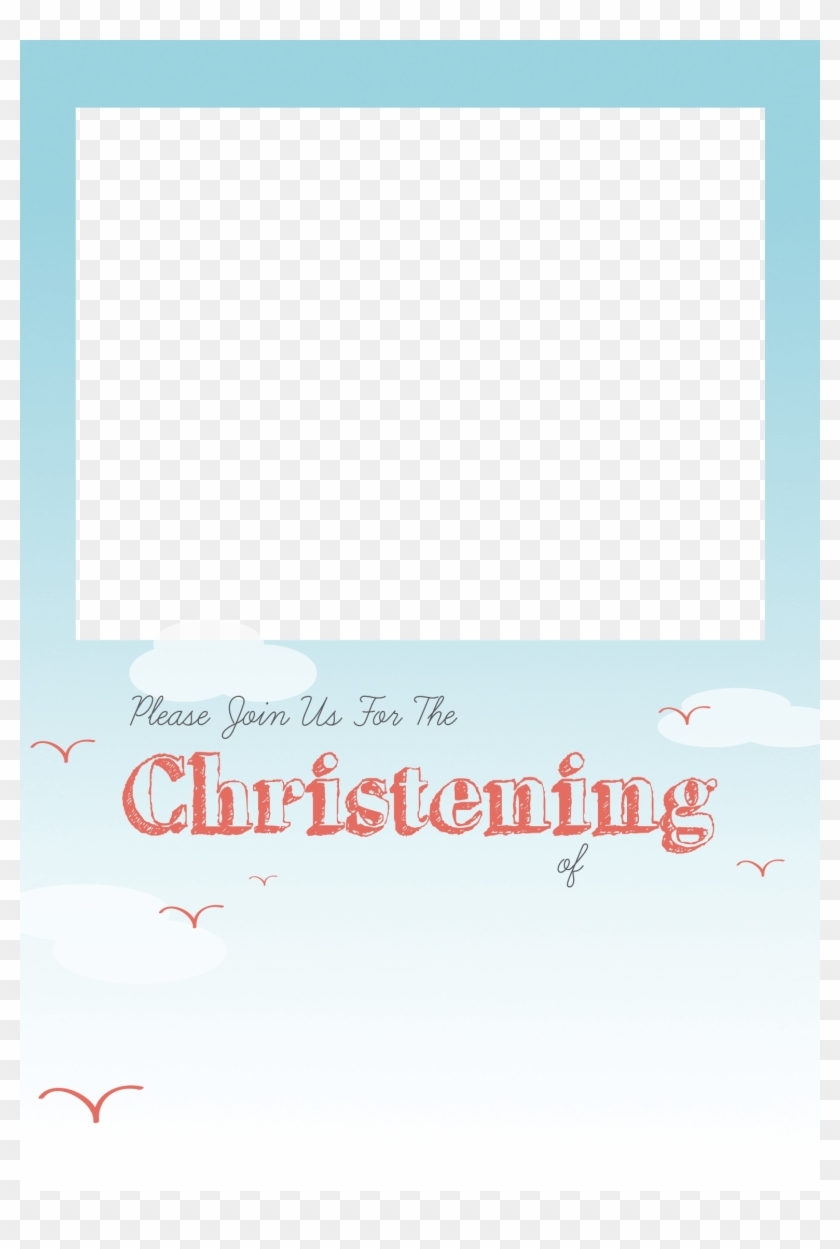 Christening Png Free - Baptism Invitation Template Png ...