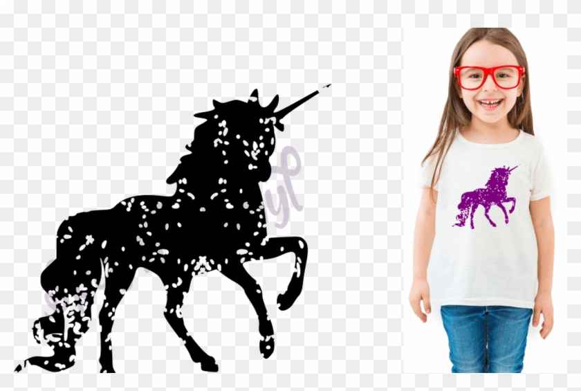 Svg Distressed Grunge Unicorn Silhouette Svg Design