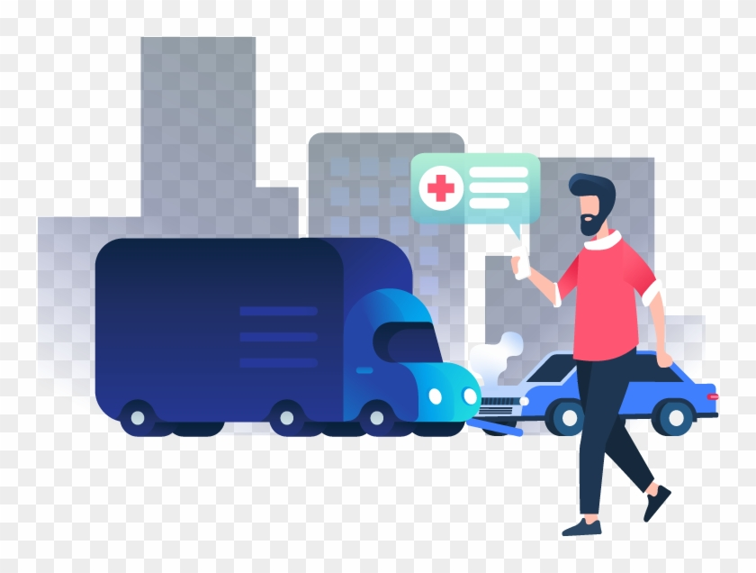 Person Calling Ambulance At A Car Crash Scene - Don T Tell