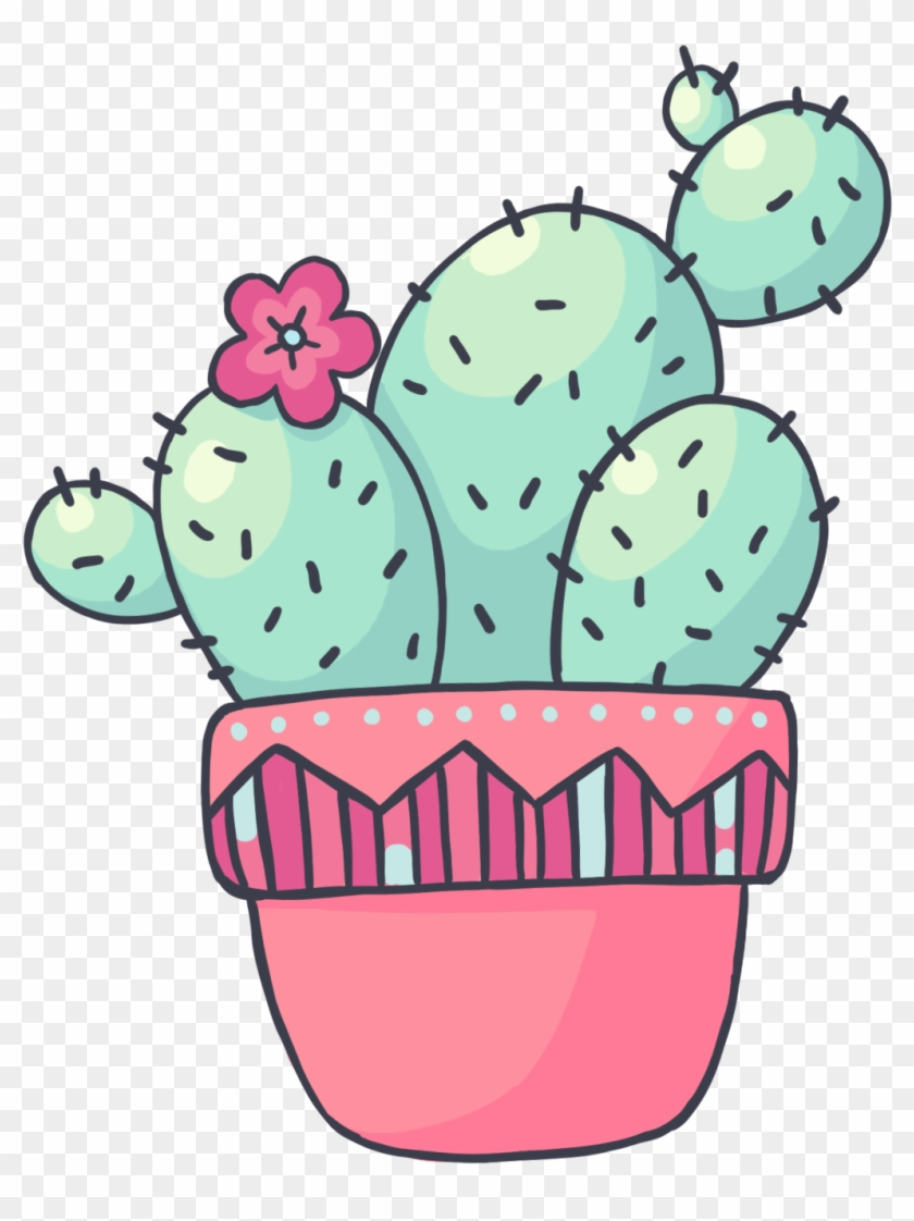 Cactus drawing. Adorable transparent clipart free