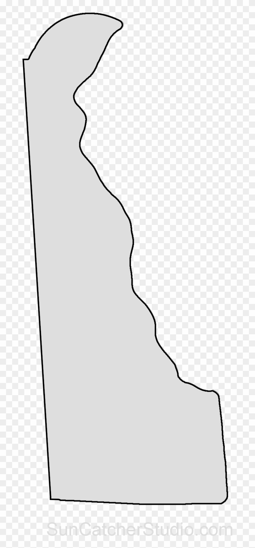 Map Outline State Outline Delaware Map State Pattern Delaware State Outline Png Transparent Png 924x1800 2550893 Pngfind