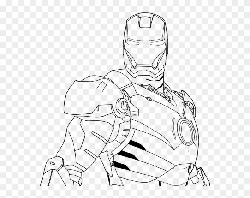 Best - Line Art Iron Man  Hd Png Download