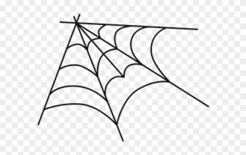 Spider web corner. Drawn vector hd png