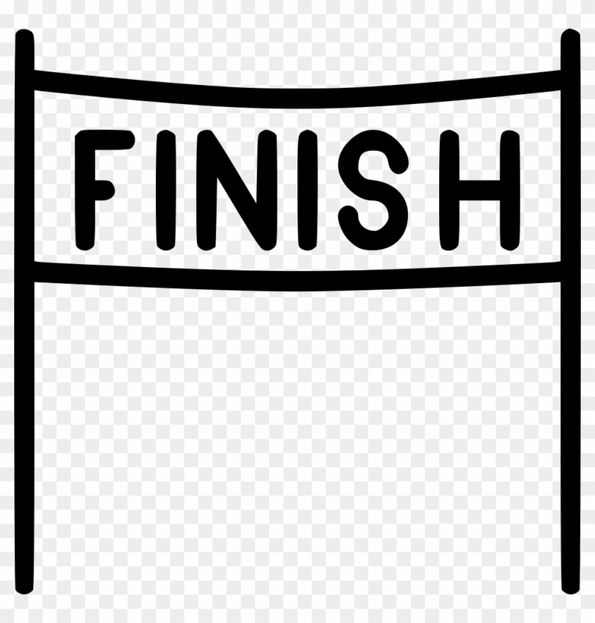 Finish Line Race Svg Png Icon, Download - Finish Line
