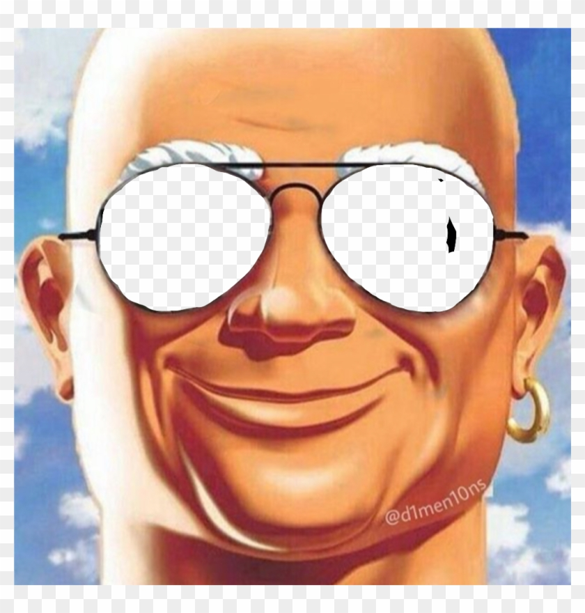 Mrclean Sticker Mr Clean Meme Glasses Hd Png Download