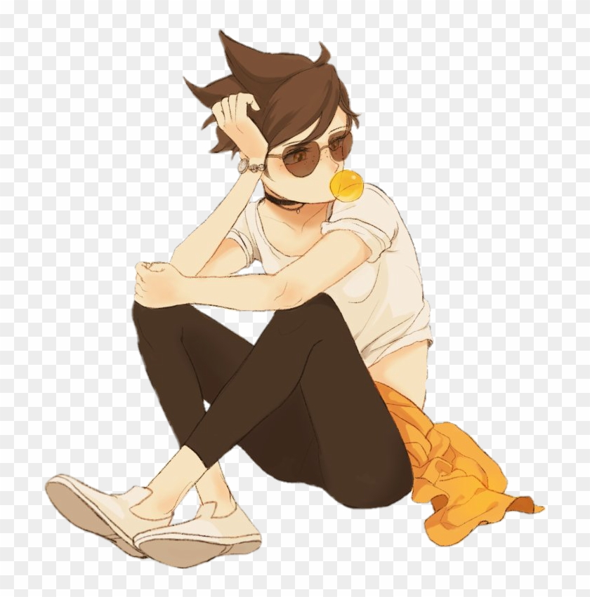 Tracer Sticker By - Overwatch Tracer Icon Fanart, HD Png