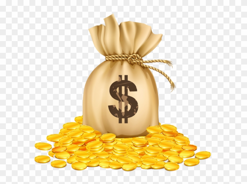 Bag Of Golden Coins, HD Png Download - 610x547(#2588208