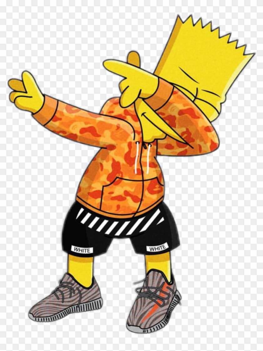Bart Dab Supreme Simpson Gang Trap Swag Fresh Simpsons Hypebeast