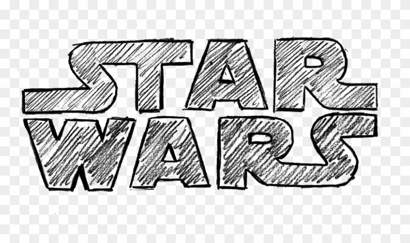 The Star Wars Star Wars Logo Sketch Hd Png Download 826x418 269002 Pngfind