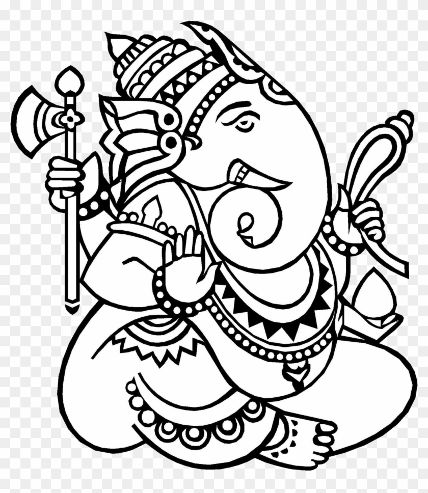 Lord Ganesha Drawing Hd Png Download 1456x1600 269251 Pngfind