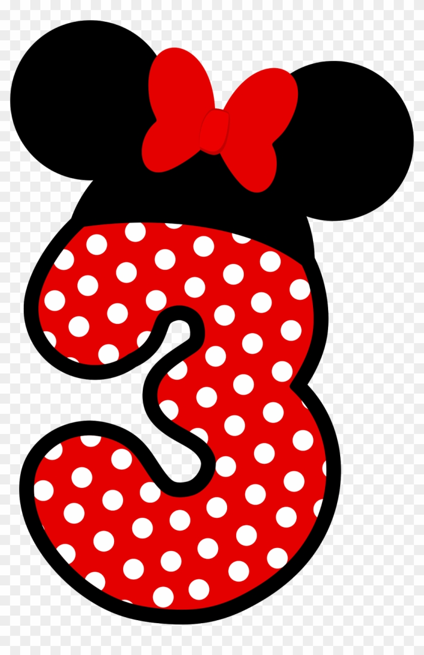 Minnie mouse number 3. Clipart numero png transparent
