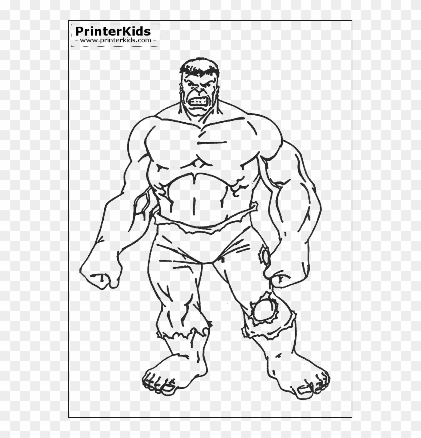 The Hulk Color Page Kids Birthdays Hulk Cartoon Avengers - Incredible Hulk  Coloring Pages, HD Png Download - 567x794(#2640477) - PngFind