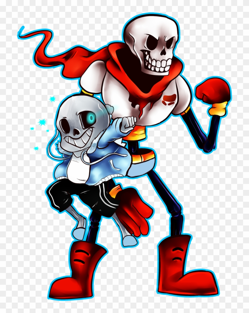 And By Acidiic - Undertale Papyrus And Sans Fanart, HD Png Download