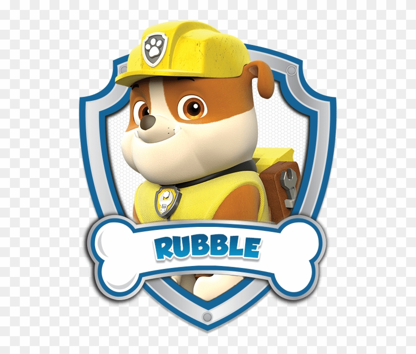 Paw patrol rubble. Logo by carolyn vector