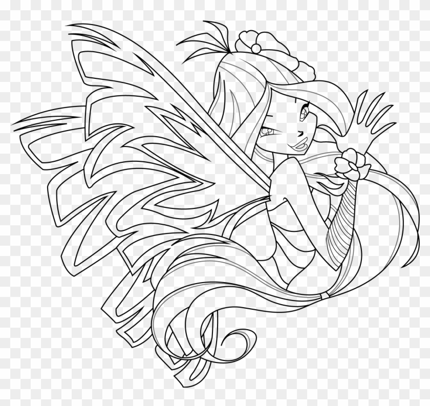 Winx Club Bloom Harmonix Coloring Pages Flora