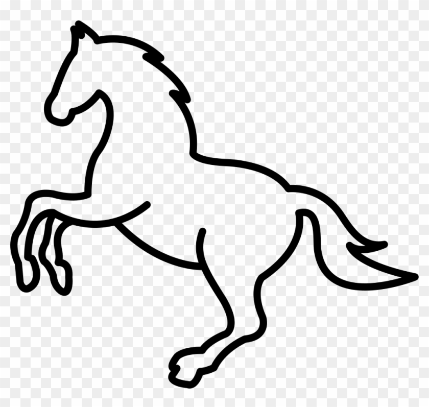 Mustang Logo Drawing Easy - Jumping Horse Outline, HD Png Download -  980x884(#2679174) - PngFind | Mustang Logo Drawings |  | PngFind