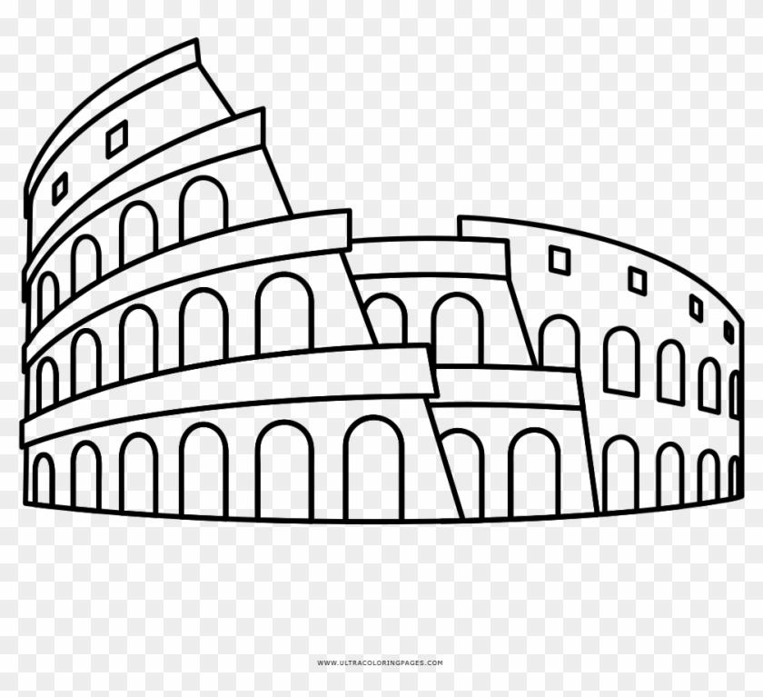 Colosseum Coloring Page Disegno Colosseo Da Colorare Hd Png