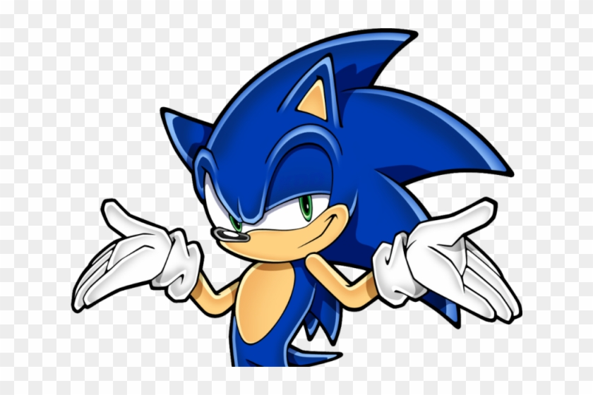 Sonic The Hedgehog Clipart Sonic Head Sonic Don T Care Hd Png