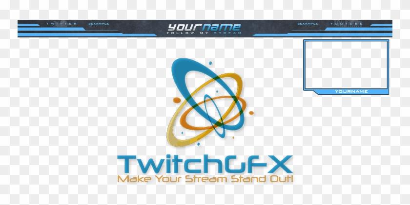 Grey Blue Free Twitch Overlay - Twitch Stream Follow Overlay