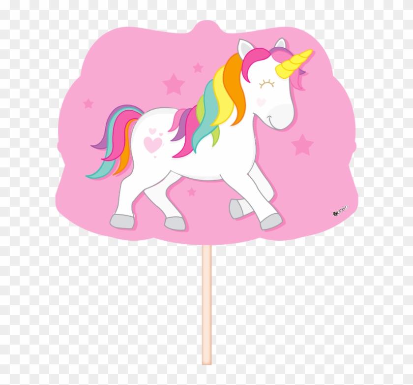 Palillo Con Figura De Unicornio Props Unicornio Para Imprimir