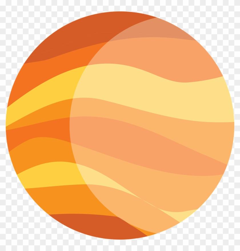 Planet jupiter. Orange the clip art