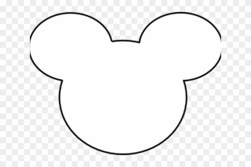 Mickey mouse head outline. Png white transparent