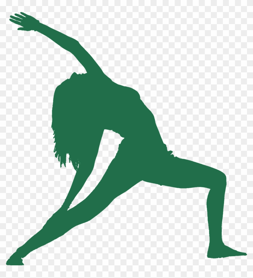 Green Colored Silhouette Women Performing Reverse Warrior Yoga Png Logo Transparent Png 2500x2627 279061 Pngfind
