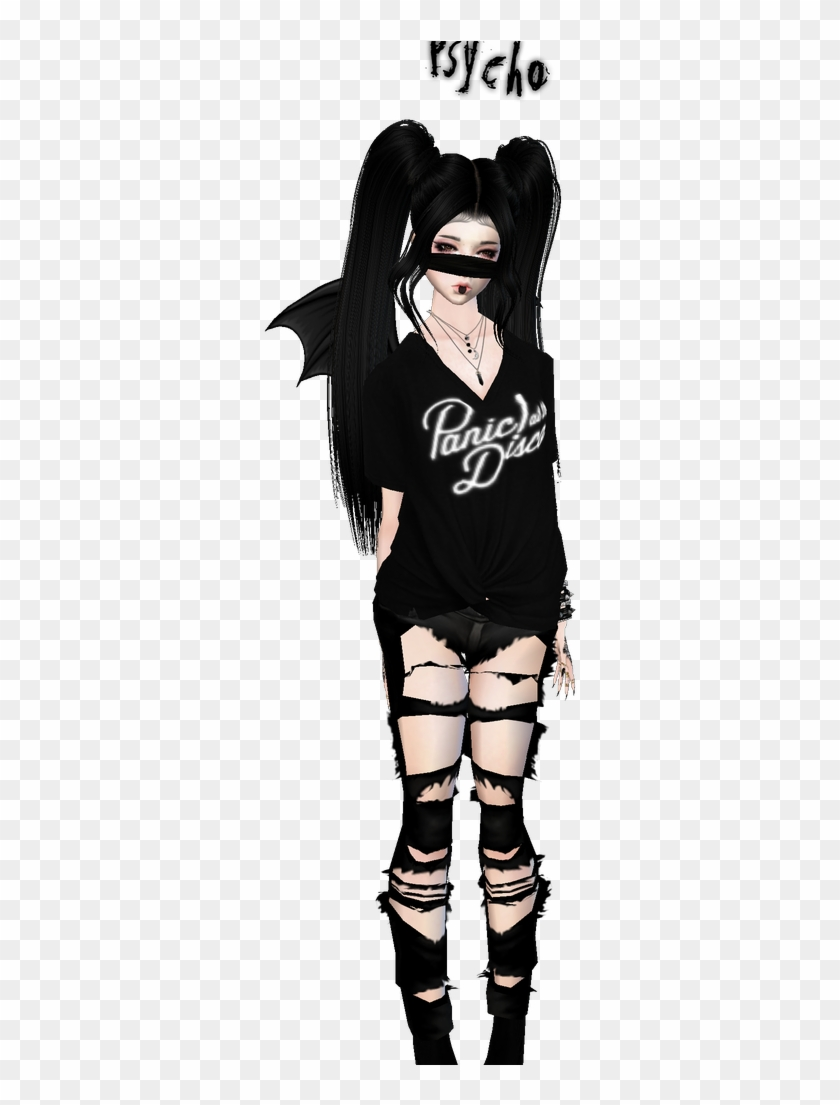 Emo Outfits, Imvu, Emo Clothes - Girl, HD Png Download