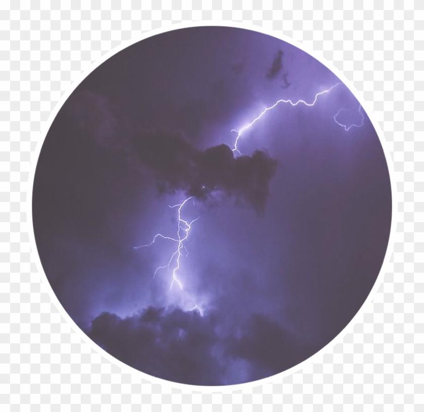 Lightning Thunder Purpleframe Aesthetic Ryanbergara