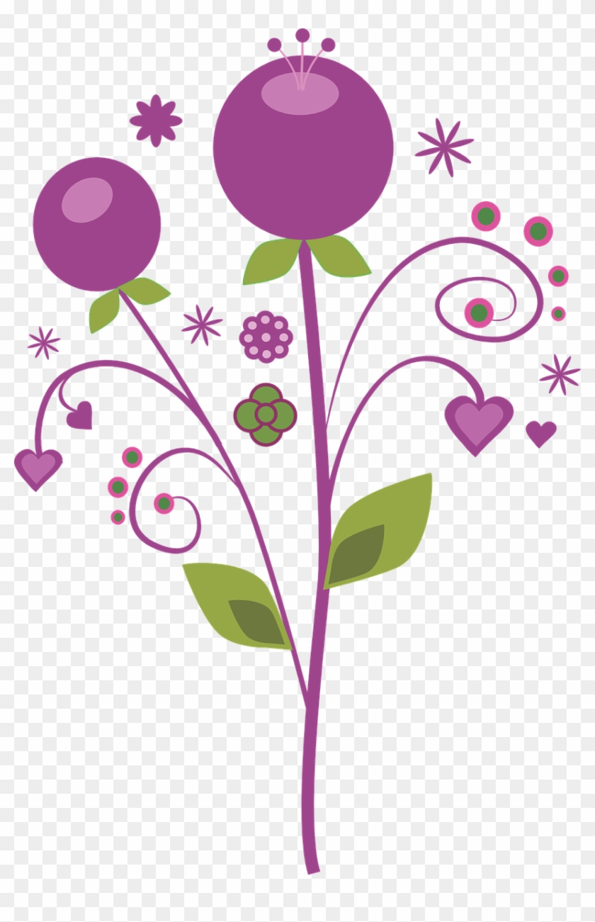 Purple Vector Flowers Png Image Flores Png Vector Transparent Png