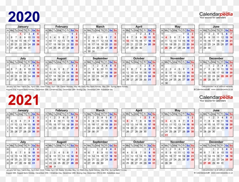 Work Week Calendar 2020 2020 Calendar Png Background Image   Work Week Calendar 2019