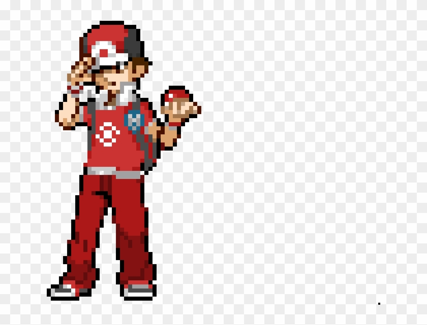 Nikocool110 - Pokemon Trainer Red Sprite, HD Png Download