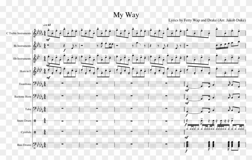 My Way Sheet Music Composed By Lyrics By Fetty Wap - Sheet