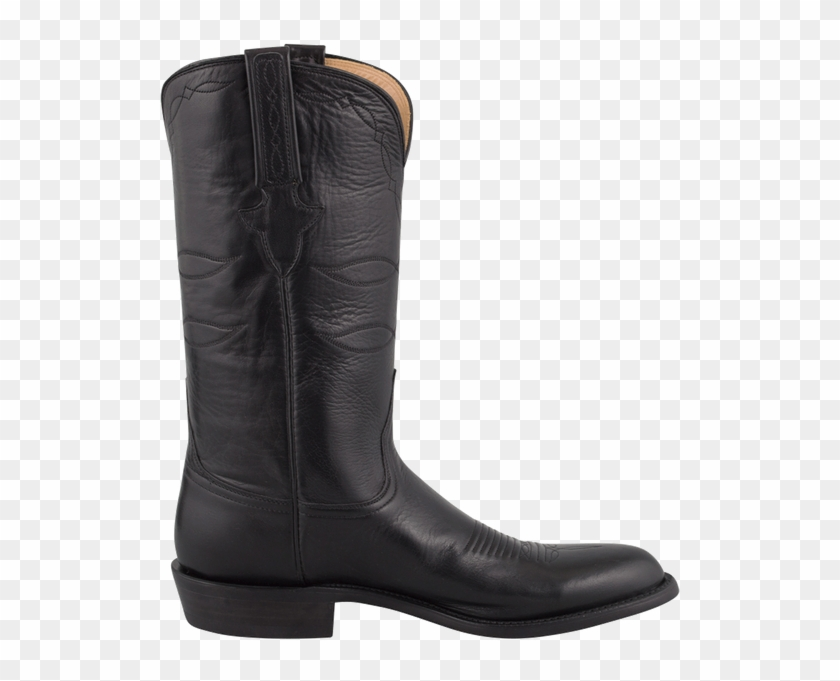 e9820c75e97 Lucchese Men's Black Baby Buffalo Roper Boots - Riding Boot, HD Png ...