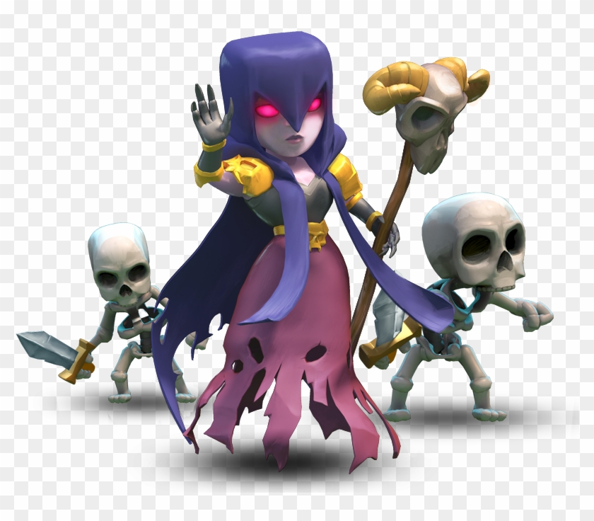 Witch Clash Of Clans Characters Hd Png Download 798x656
