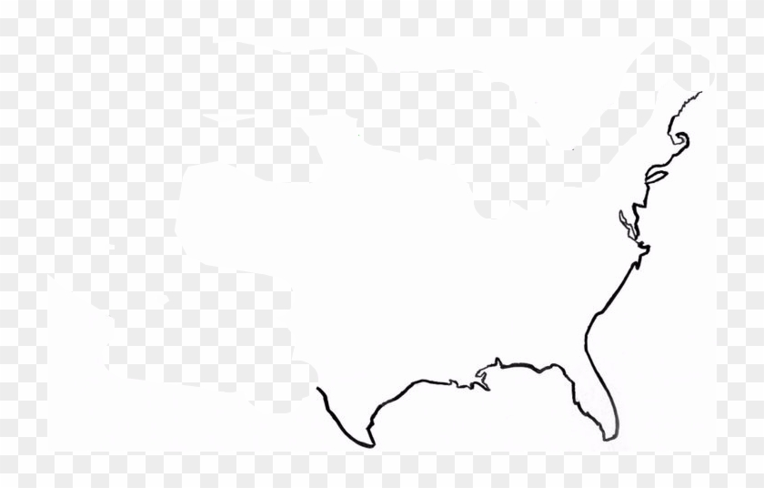 united states map outline png United States Map Outline Simple Outline Of The Us Hd Png