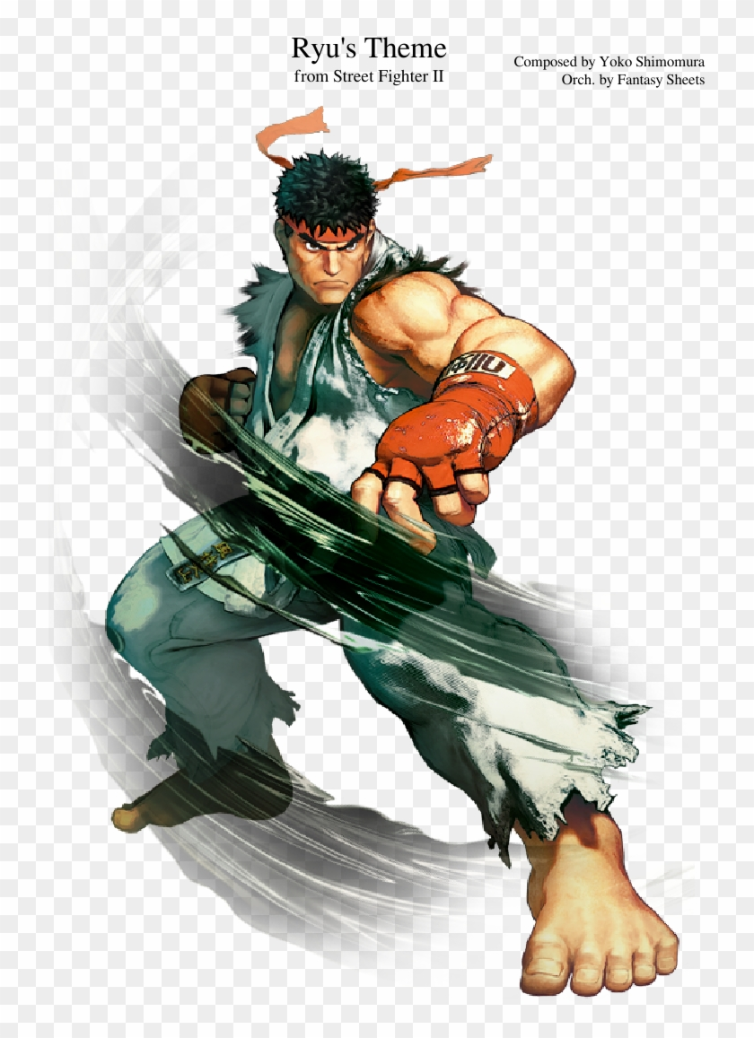 Ryu's Theme Sheet Music Composed By Composed By Yoko - Fan