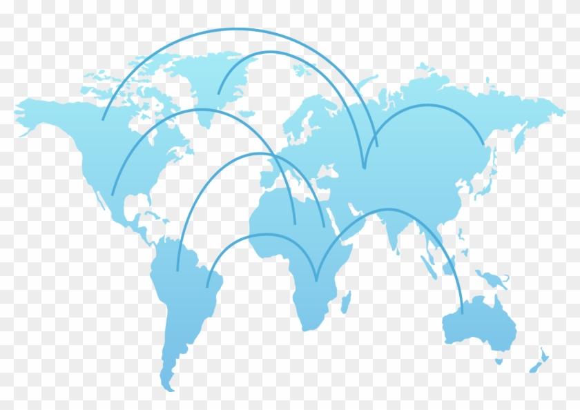 World Map Globe Clip Art - Air New Zealand London To ...