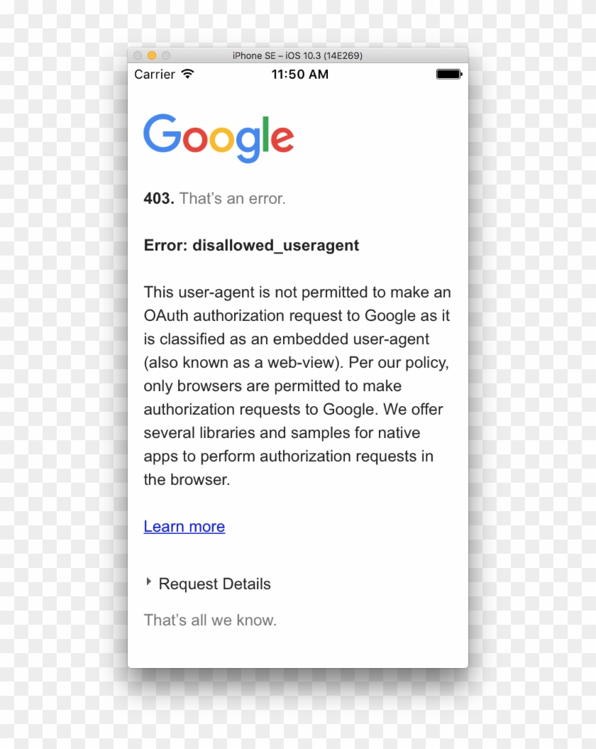 Login With Google Drive Is Not Getting Authorized - Google