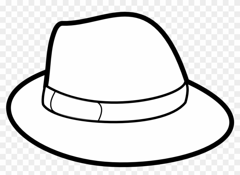 Mlg Fedora Clipart - Hats Black And White, HD Png Download - 900x621