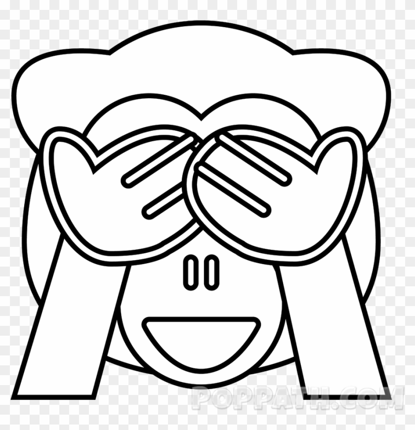 How To Draw A See No Evil Emoji Pop Path Emoji Mono Png Para