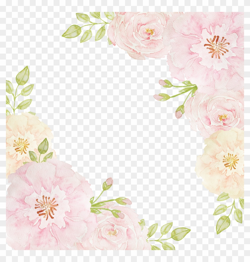 Pink Rose Borders Flowers Beach Png Download Free Clipart Pink Flowers Border Png Transparent Png 3600x3600 2806839 Pngfind