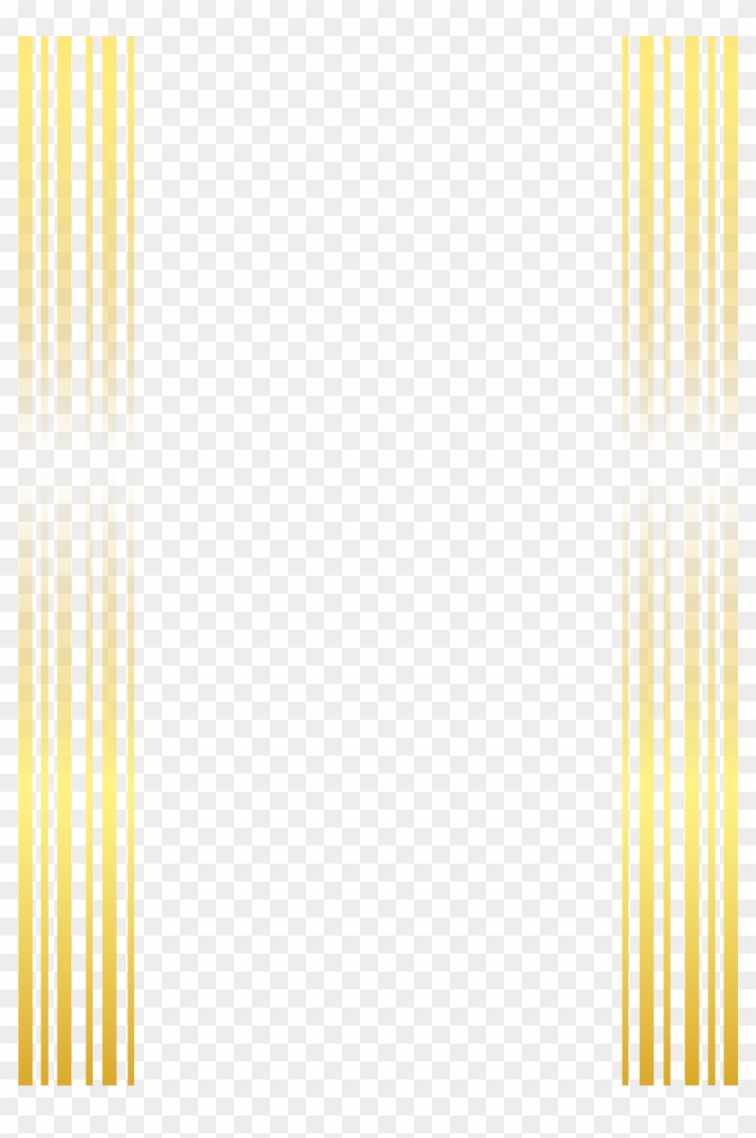 Gold Painted Frame Vector Stripe Line Icon Clipart - Black