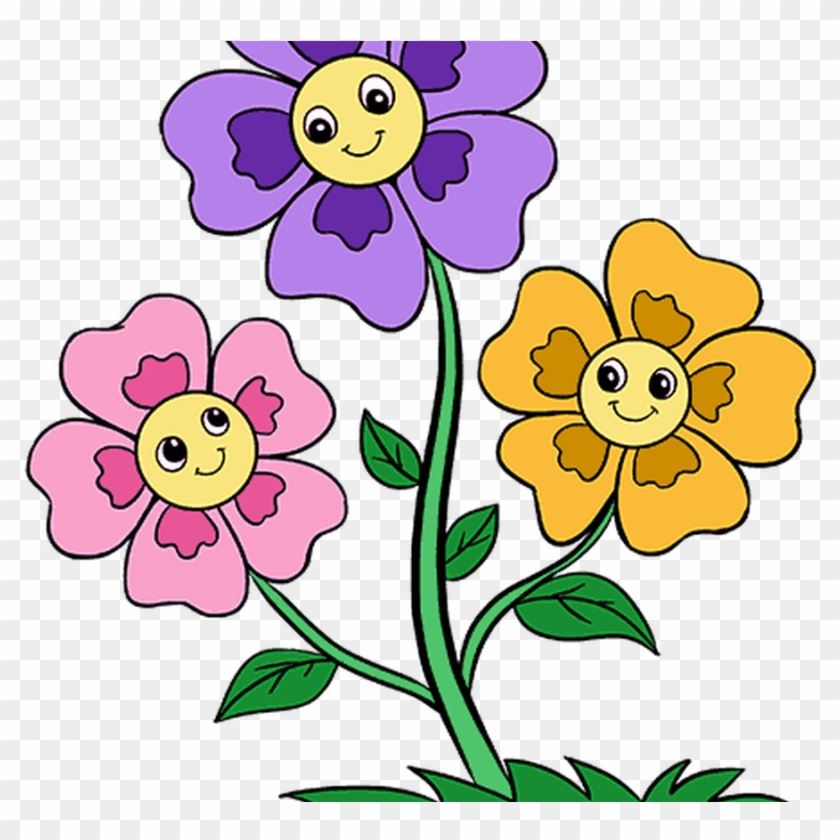 Drawing Cartoon Flowers Picture Easy Ways To Draw A Flowers Cartoon Images Png Transparent Png 1368x855 2825891 Pngfind