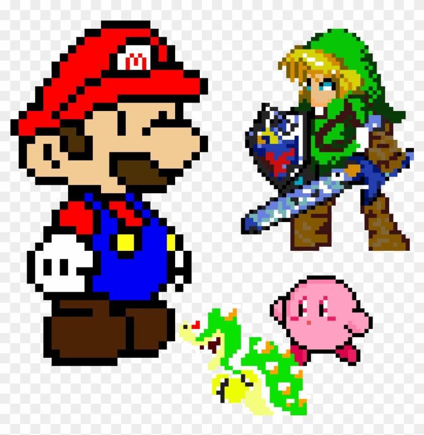 Super Smash Bros Pixelized Mario Y Luigi Pixel Art Hd Png Download 1200x1200 2828664 Pngfind