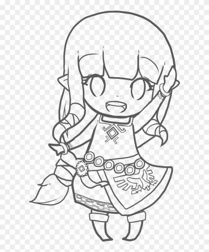 - Zelda Coloring Pages Chibi - Legend Of Zelda Chibi Drawings, HD