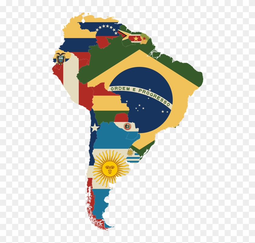 South America Map With Flags South America Map Flag Hd Png