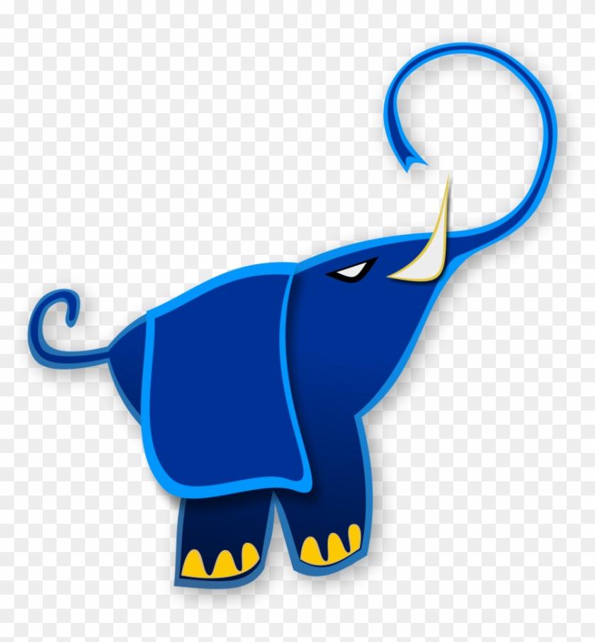 Thong Light Blue With Footprint Clipart Vector Clip Elefante